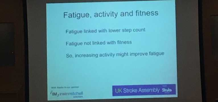 Professor Gillian Mead - post stroke fatigue not related to fitness