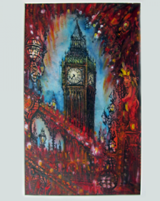 A painting of Big Ben by Neil Pittaway