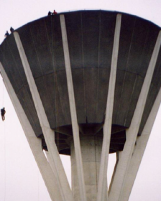 Water tower abseil