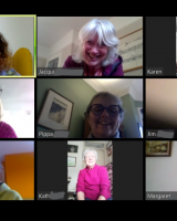 A screenshot of the choir's first online meeting.