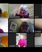 A screenshot of the choir's first online meeting.