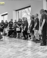 The NW Stroke Choir performing in Whitworth Art Gallery