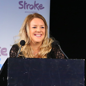 Liz Roberts at Stroke Club Conference