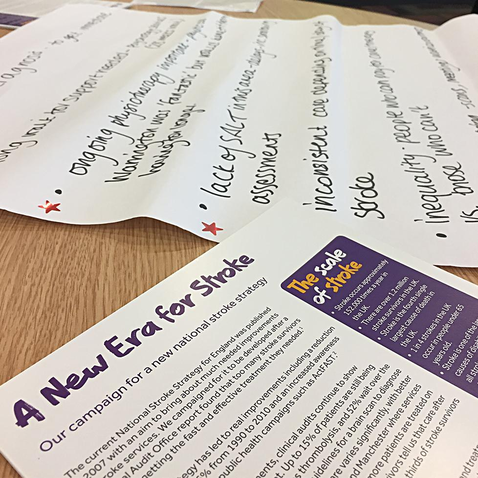 Campaign leaflet for A New Era for stroke