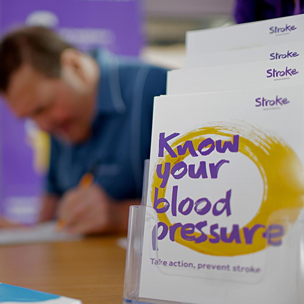 A man signs up to our Know Your Own Blood Pressure campaign