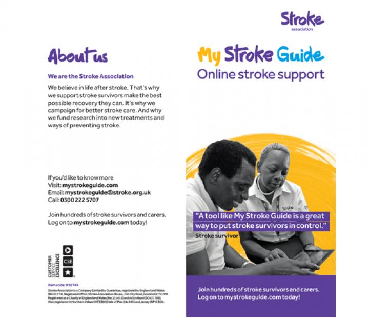 My Stroke Guide leaflet | Stroke Association