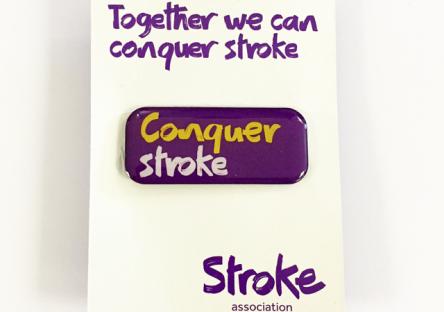 Gift ideas stroke association pin badge negle Choice Image