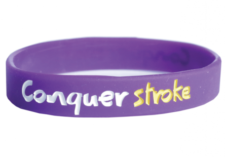 Gift ideas stroke association conquer stroke wristband negle Images