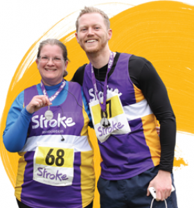 Stroke Association runners with their medals after completing a race