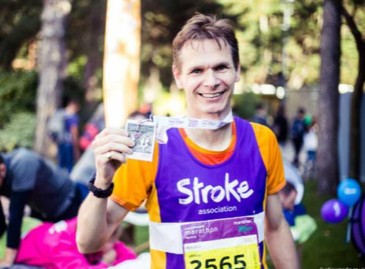 Rob running for Team Stroke