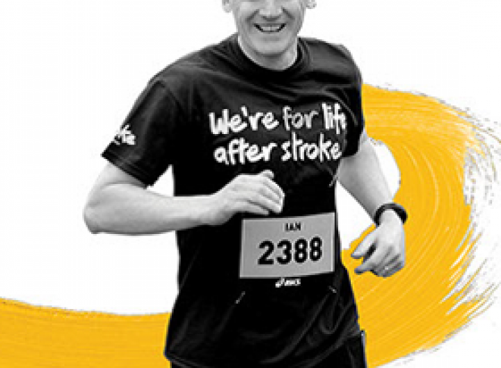 Stroke Association volunteer running at an event
