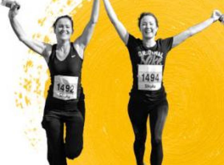Stroke Association volunteers running