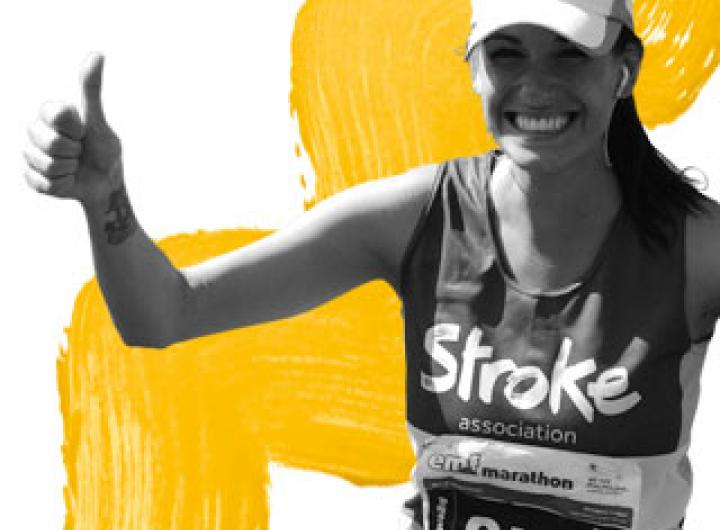 Stroke Association runner giving a thumbs up