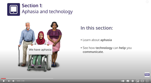 Getting online for people with aphasia video thumbnail