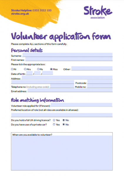 Volunteer resources | Stroke Association