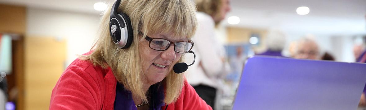 Photo of Stroke Association's telephone volunteer